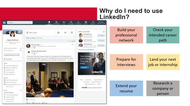 Screenshot of LinkedIn Presentation from Hayley Ni Bhriain-1