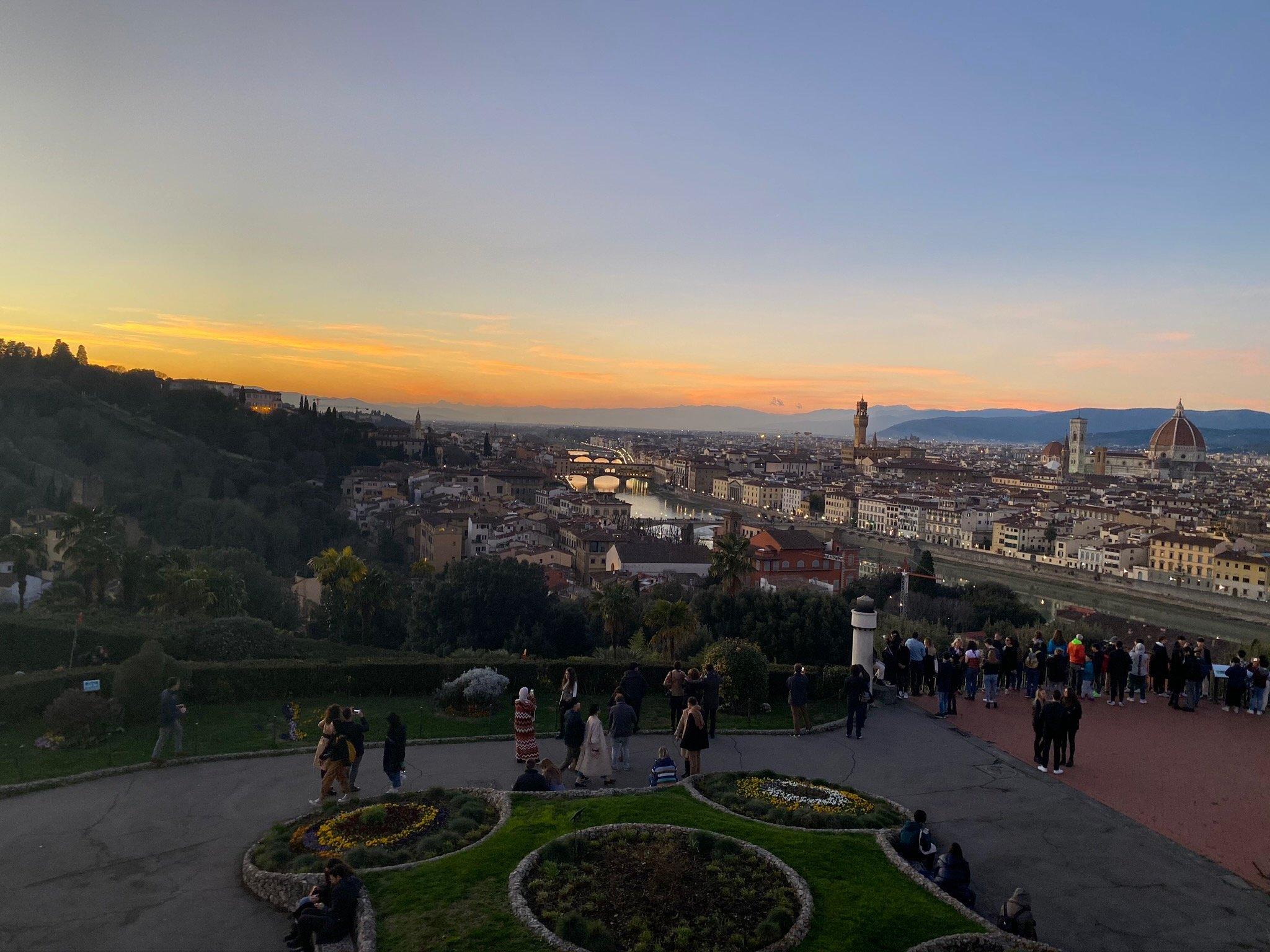 CAPAStudyAbroad_Spring2020_Florence_Sara Shriber_Piazzale Michelangelo