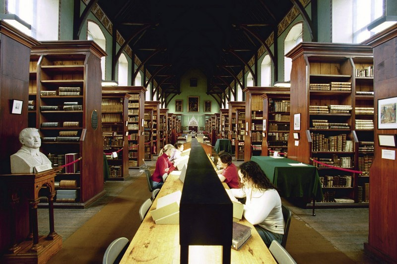 Studying in Russel library---NUI Maynooth
